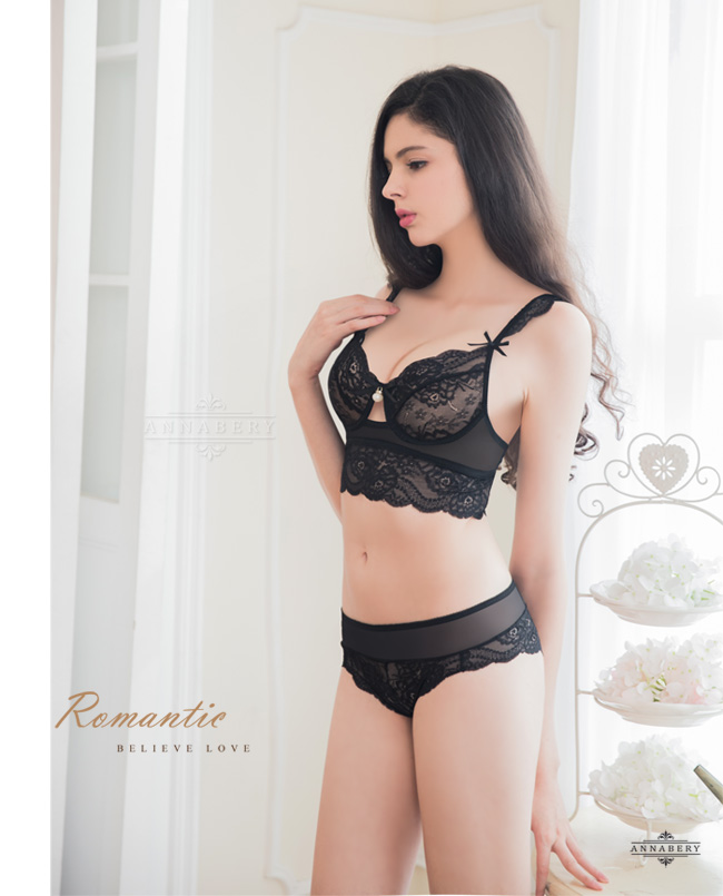 209fd8ba7f Underwired Bra Set-Non-Padded Annabery Lingerie -- Romantic Angel!Sexy  elegant beauty lace No pad Rims underwear Bra set-ANNA MU